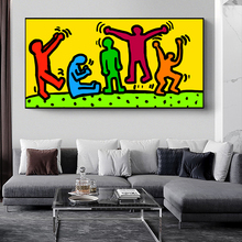 Keith Haring Graffiti Art Canvas Posters And Prints Abstract Street Art Canvas Paintings Keith Haring Art Pictures Home Decor coach x keith haring бумажник