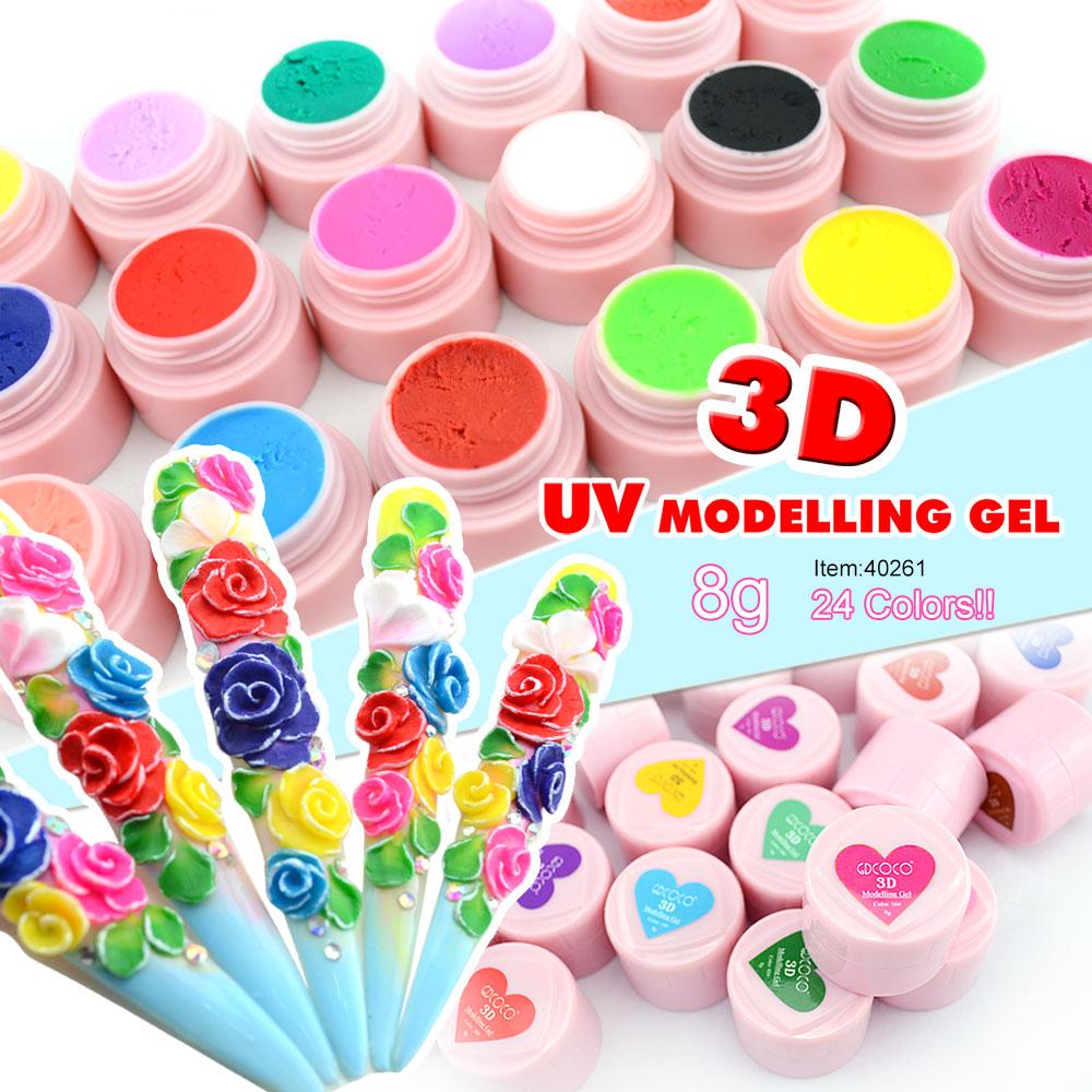 CANNI 3D/4D Modeling Stereoscopic Carve Factory Nail Art Design GDCOCO Soak off UV LED 8g Nail Painting 3D Sculpture Color Gel|color gel|soak offsoak off uv - AliExpress