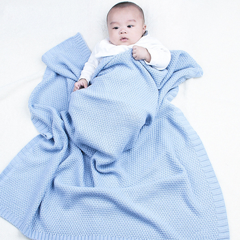 knitting Baby Blanket Newborn Blankets Soft Stroller Wrap Infant wrap Swaddle For Monthly Toddler Bedding baby blankets newborn flannel swaddle wrap blanket super soft toddler infant bedding quilt for bed sofa basket stroller blankets