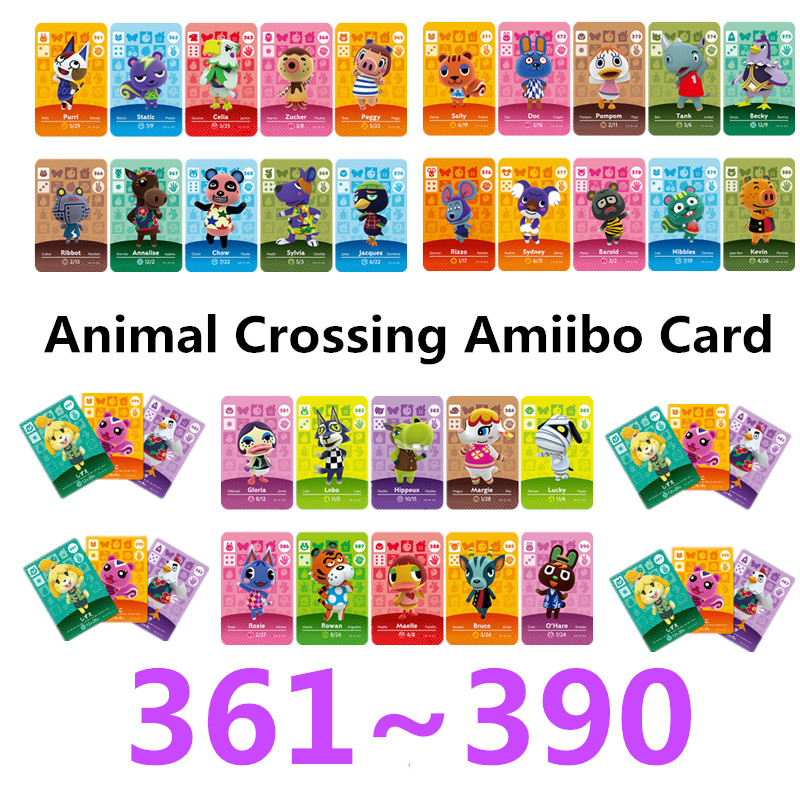 Animal Crossing Card Amiibo Card Work For NS Games NFC Amibo Switch Ankha Welcome Stickers New Horizons Series 4 (361TO 390)