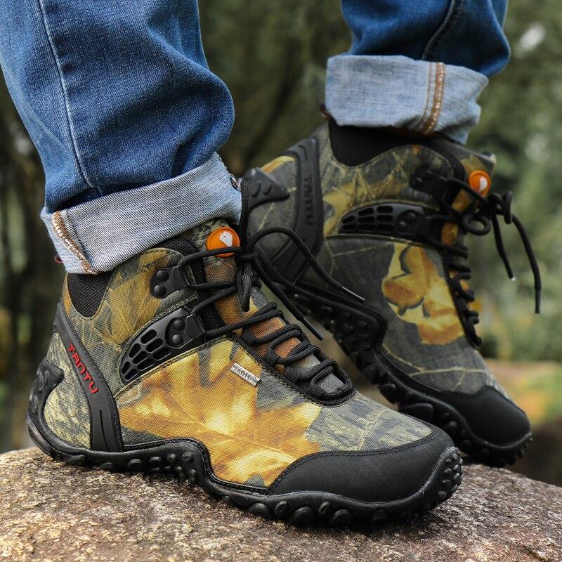 RUIFF Outdoor Fun Sports Mountain Trekking Shoes Hunting Boots Leather Waterproof Hiking Shoes Men Boot sneakers men