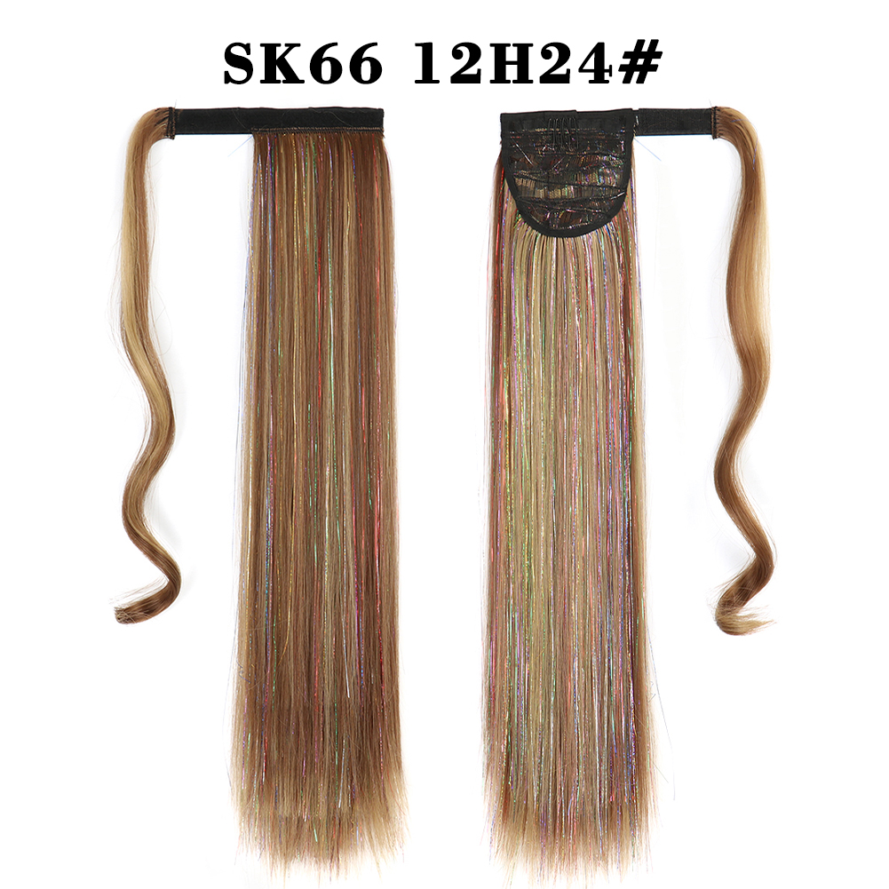 extensões de cabelo hairpiece envoltório longo sintético