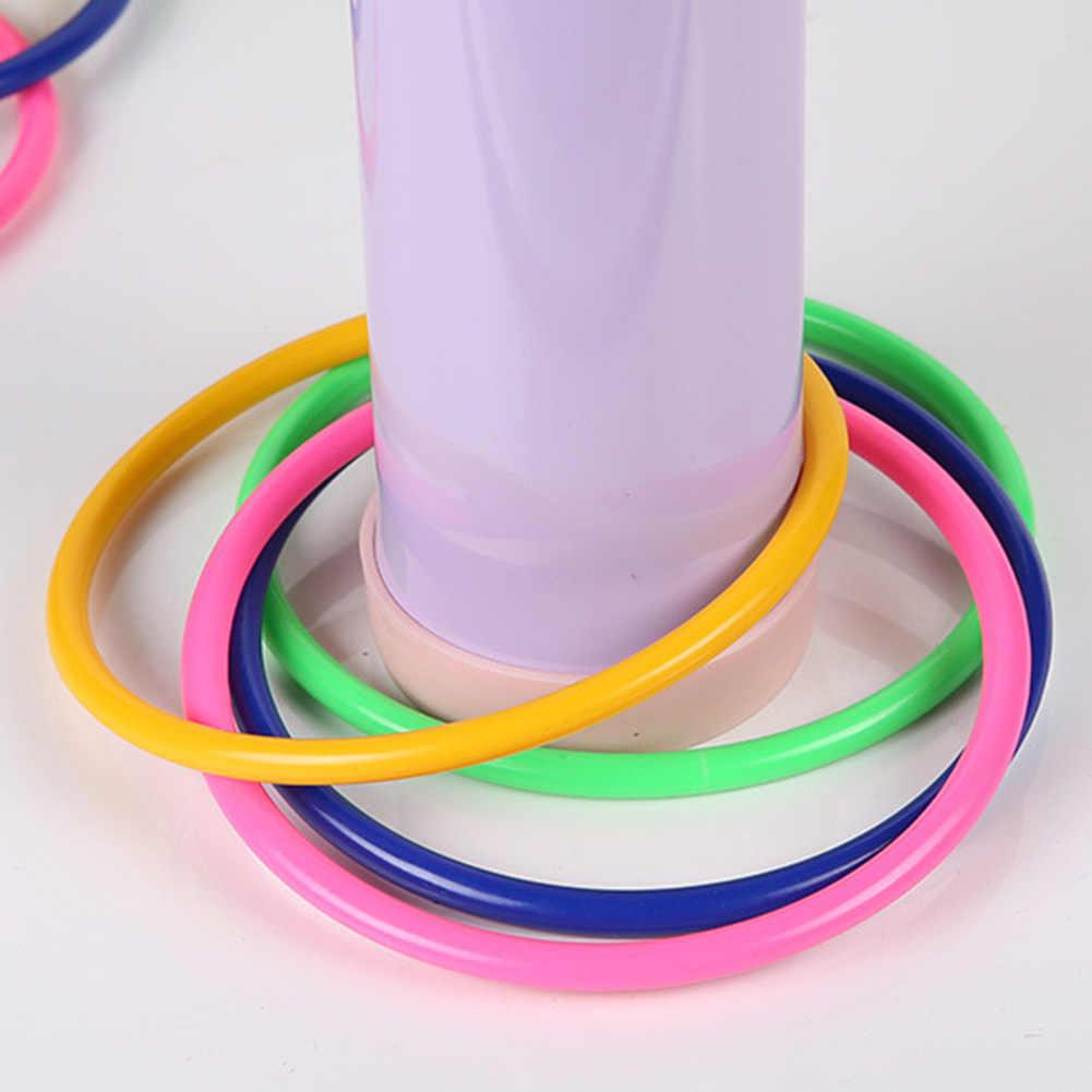 10 stücke Sport Outdoor Spielzeug Kinder Spiele Garten Geschwindigkeit Kinder Kunststoff Hoop Werfen Ring Pool Bunte Quoits Agilität Praxis Spaß