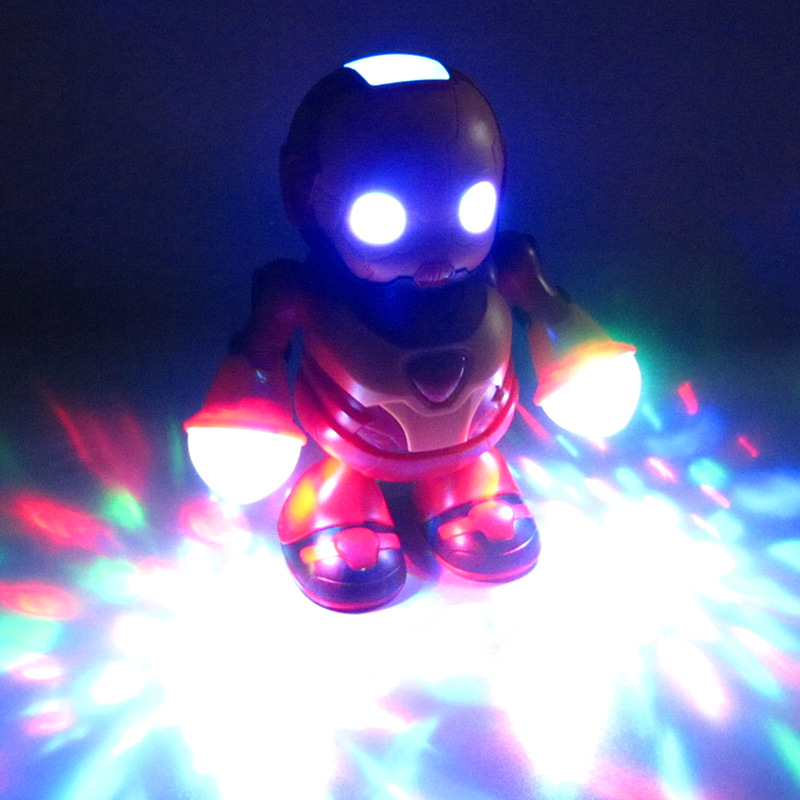 Douyin Celebrity Style Dancing Robot Singing Dancing Model Electric Light And Sound Toy Stall Hot Selling