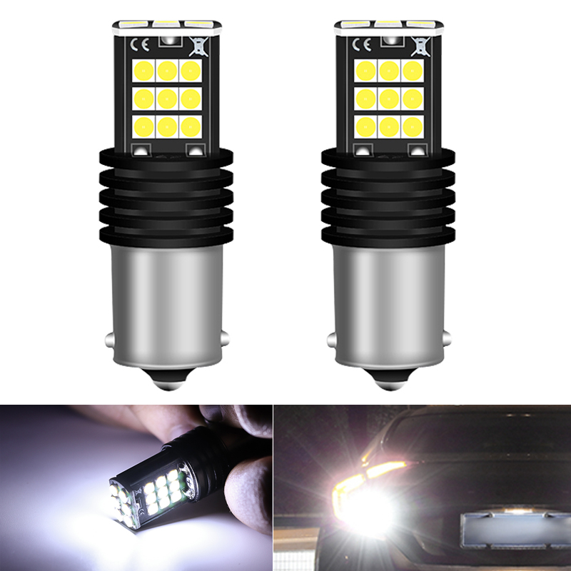 2x 24smd 3030 CanBus No Error 1156 BA15S P21W LED Reverse Bulbs Turn Signals White For Skoda Superb Octavia 2 FL 2011 2012 2013