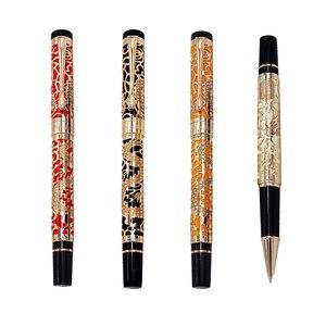 Image 1 - Penna a sfera di lusso di alta qualità Jinhao 5000 Dragon Clip dorata penna a sfera direzionale cancelleria penna regalo per ufficio aziendale
