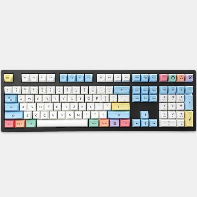 SA profile Dye Sub Keycap Set PBT plastic crayon chalk for mechanical keyboard white blue orange gh60 xd64 xd84 xd96 87 104