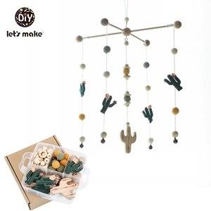 Image 3 - Yapalım bebek oyuncakları cep yatak eğitici oyuncaklar çıngıraklar üzerinde beşik kaktüs yılbaşı hediyeleri DIY seti çıngıraklar yenidoğan için