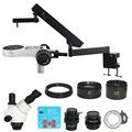 3.5X-90X Simul-brenn Trinokular Gelenk Arm Säule Clamp Stereo Mikroskop 30MP HDMI USB PCB reparatur mikroskop kamera werkzeug