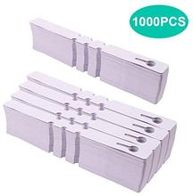 1000Pcs Plant Tree Tags Labels, White Plastic Plant Hanging Labels 2 x 20 cm Wrap Around Nursery GardGarden Tags with Marker Pen
