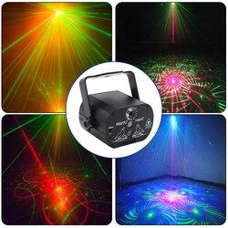Mini laserowe oświetlenie sceniczne USB Charge światła disco dla dj Strobe Party efekt sterowanie głosem projektor laserowy parkiet taneczny Bar Car w Oświetlenie sceniczne od Lampy i oświetlenie na