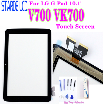 Touch Glass For LG G Pad 10.1 V700 VK700 Touch Screen Glass Digitizer Panel Front Glass Lens Sensor Not LCD with Tools for lg g pad lg v700 vk700 v700 touch screen digitizer glass replacement free shipping