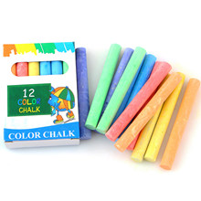 12pcs Colored Dustless Chalks Washable Non-toxic Chalk Markers for School Office Blackboard Whiteboard Glass