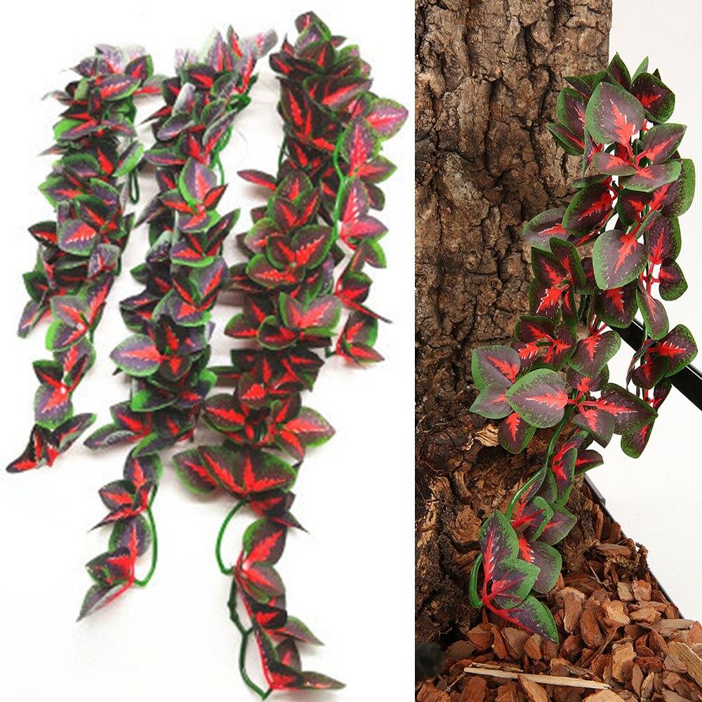 1PC 30/40/50cm Lizard Habitat Artificial Vine Reptiles Vivarium Simulation Design Terrarium Decor