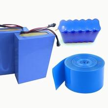 2 м ПВХ термоусадочная трубка 18650 для изоляции аккумулятора термоусадочная пленка из кабельная муфта синий Водонепроницаемый усадка