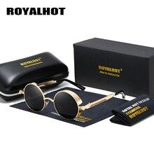RoyalHot 男性女性偏光 Aloy ラウンドレトロフレームサングラスドライビングサングラス Oculos masculino 男性 p1008