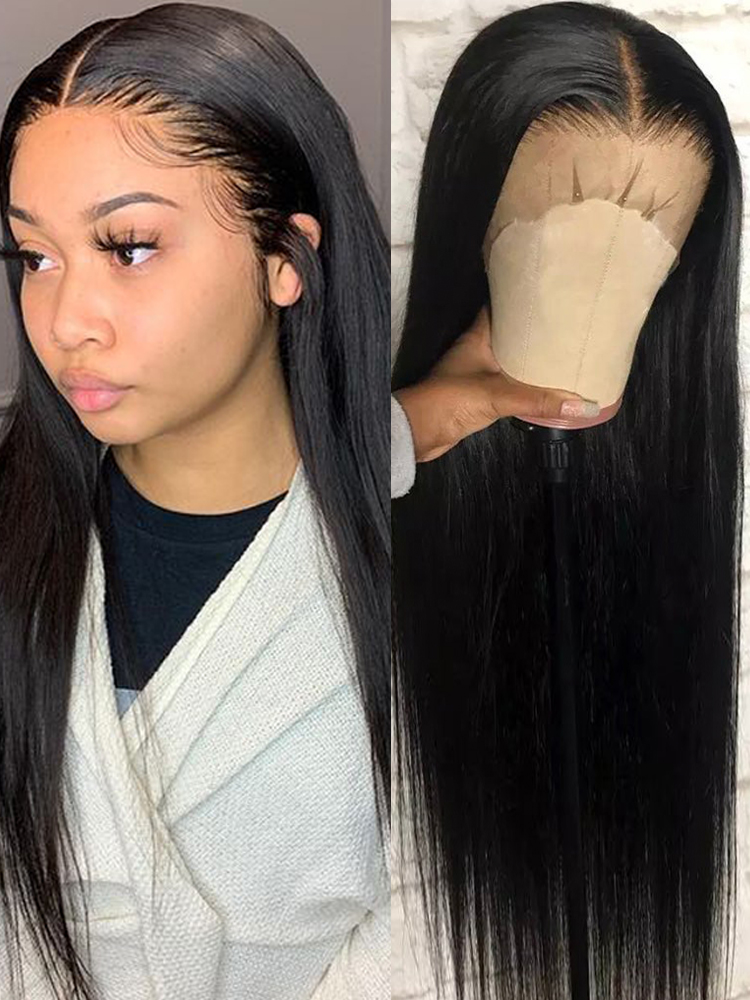 Straight Lace Front Human Hair Wigs For Black Women Short Brazilian Bob Long Frontal Remy Wig 180 Density Hd Full Lace Front Wig