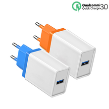 Quick Charge 3.0 USB EU Plug Charger 18W Fast Charging Travel Wall Charge Adapter For iPhone Xiaomi Huawei Mobile Phone Charger quick charge 3 0 usb charger travel for iphone samsung micro usb type c fast charging 3 ports eu us plug mobile phone charge