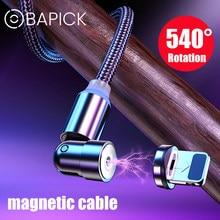Bapick 540 graus girar rápido carregamento cabo magnético micro cabo usb tipo c usb c cabo ímã carregador de telefone cabo usb fio
