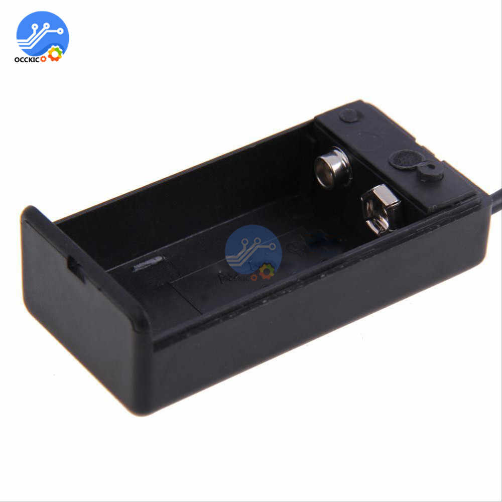 Battery holder for 1 X /'PP3/' 9 volt cell with leads Battery holder for 1 X /'P