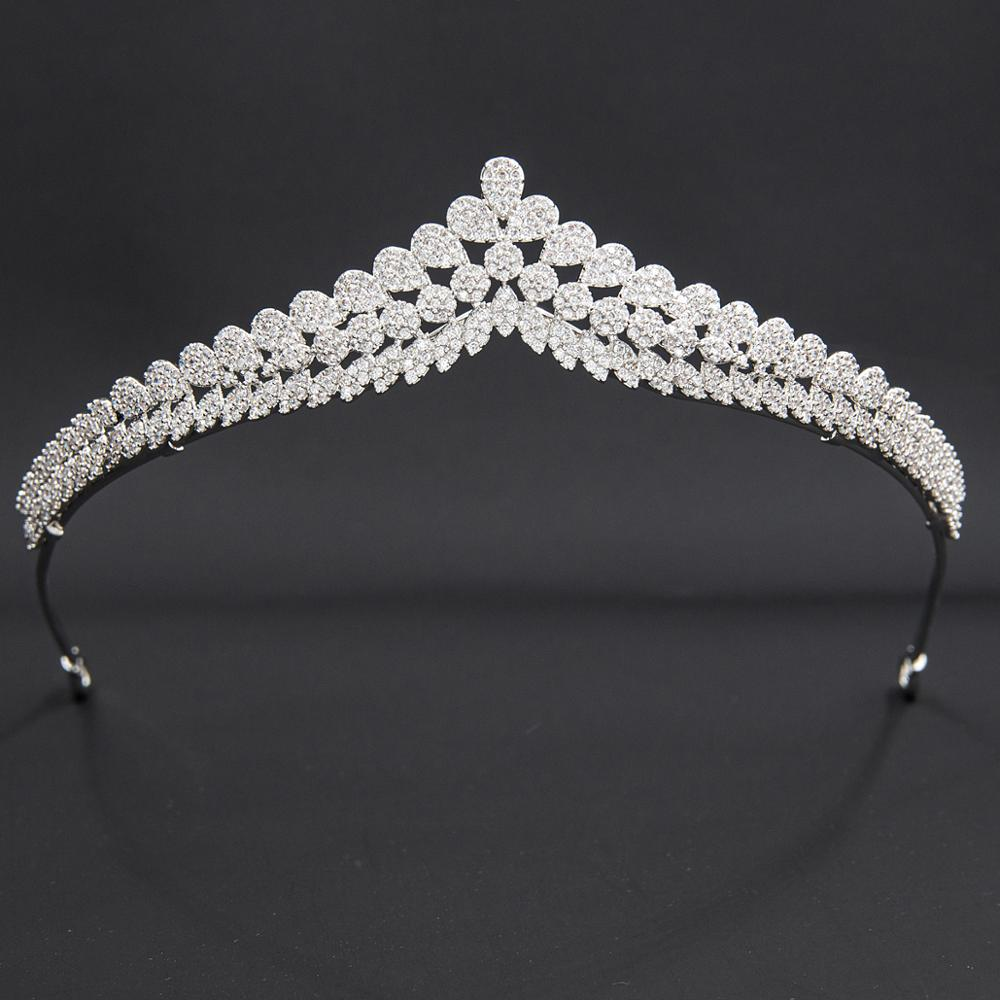 5A Level Cubic Zirconia Bridal Wedding Tiara Diadem Hair Jewelry Accessories Hairpieces CH10354