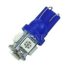 цена на 1PC T10 5-LED 5050 SMD 194 168 W5W Blue Light Wedge Bulb XENON Car Tail Lamp