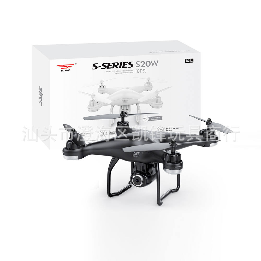 Shi Ji S20w Double GPS Automatic Follow Unmanned Aerial Vehicle Aerial Photography Webcam Remote Control Aircraft Four-axis Airp
