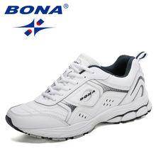 Кроссовки bona мужские спортивные кожаные дышащие демпфирующие