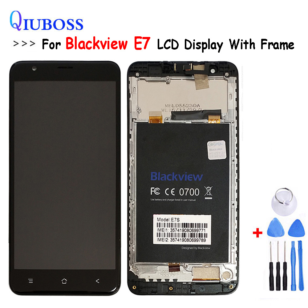 Tested Well Touch Panel + LCD For Blackview E7 E7S LCD Display+Touch Screen Digitizer Assembly Replacement Parts With Frame