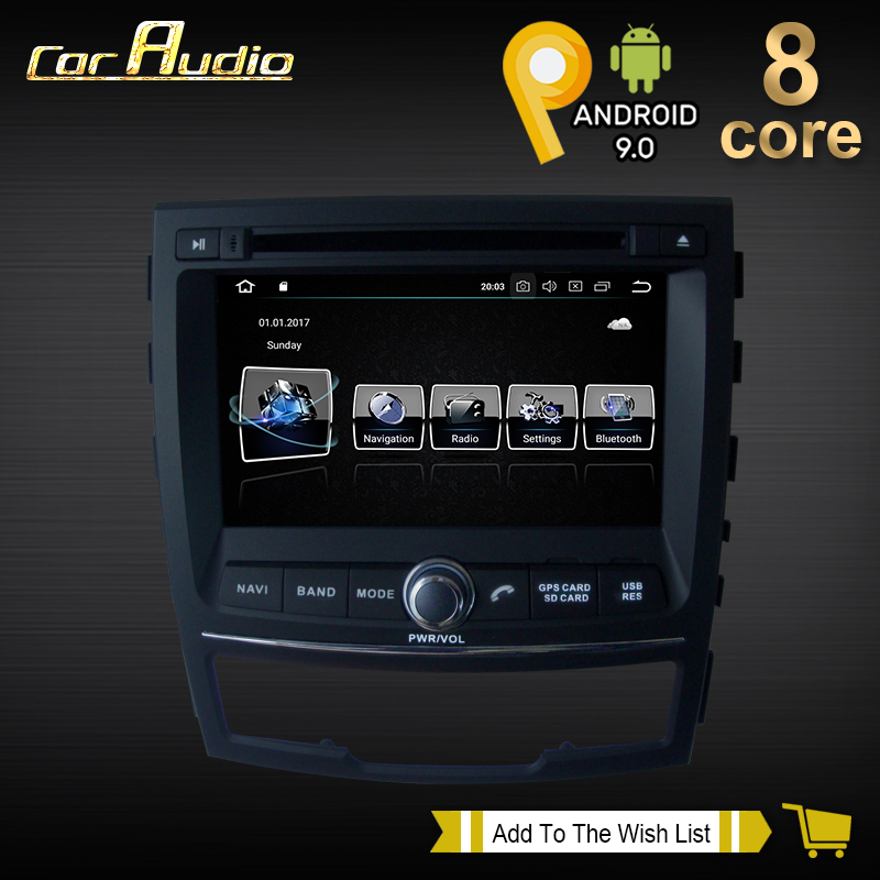 Car Audio 7'' 8 Core Android 9.0 Car DVD Play for SSANGYONG KORANDO 2010- Autoradio GPS Navigation Audio Stereo WIFI image