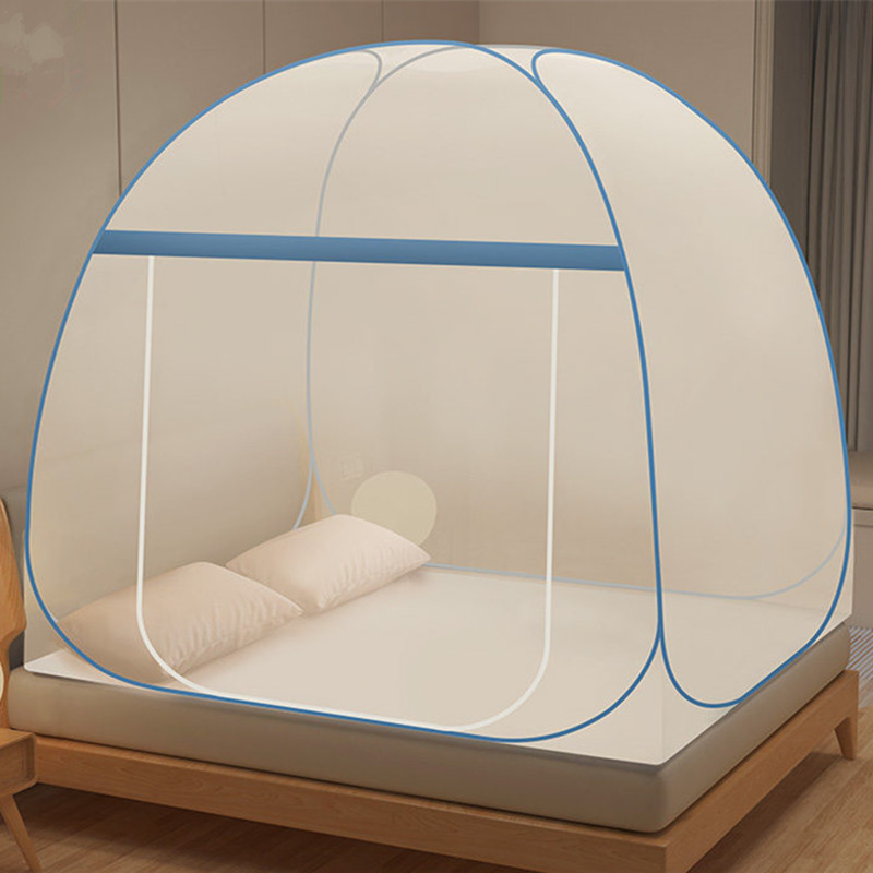 New Foldable Household Mosquito Net Canopy Large Space Bed Tent Mesh Encryption Adults Mosquito Netting Portable
