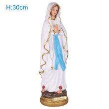 Statue de la vierge marie bénie de 30cm, Statue notre dame de lourdes, Figurine du Christ sur table, en résine