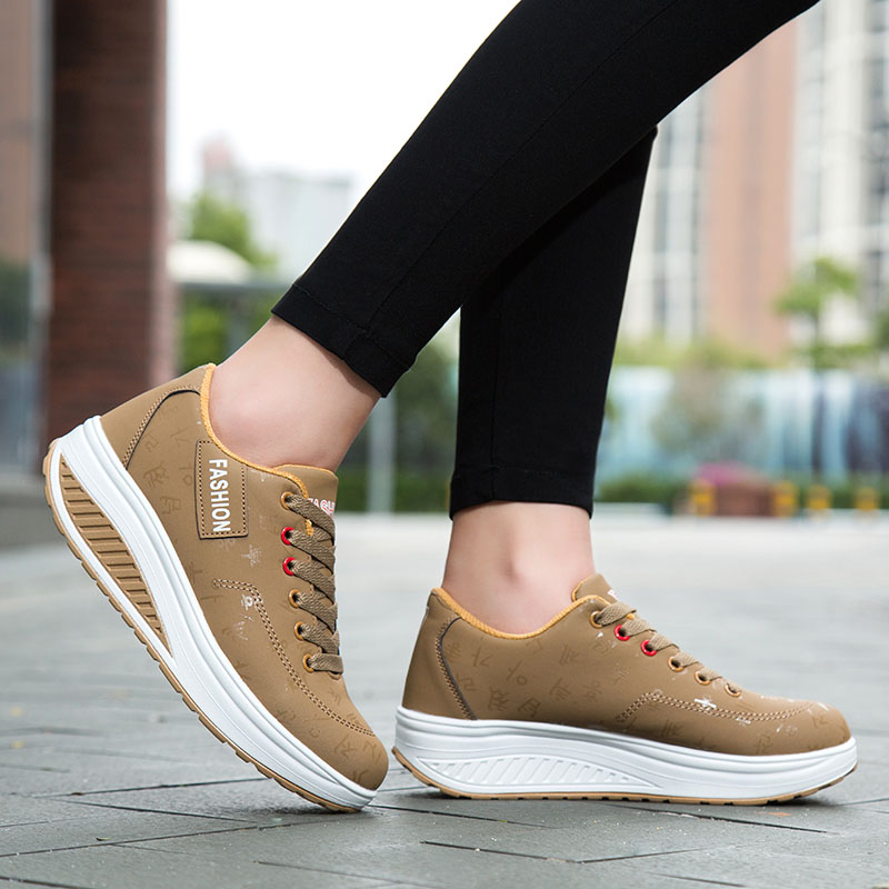 2020 Spring New Women Platform Rocking Shoes Casual Fashionable Womens Chunky Designer Sneakers Zapatillas Con Plataforma Mujer 2