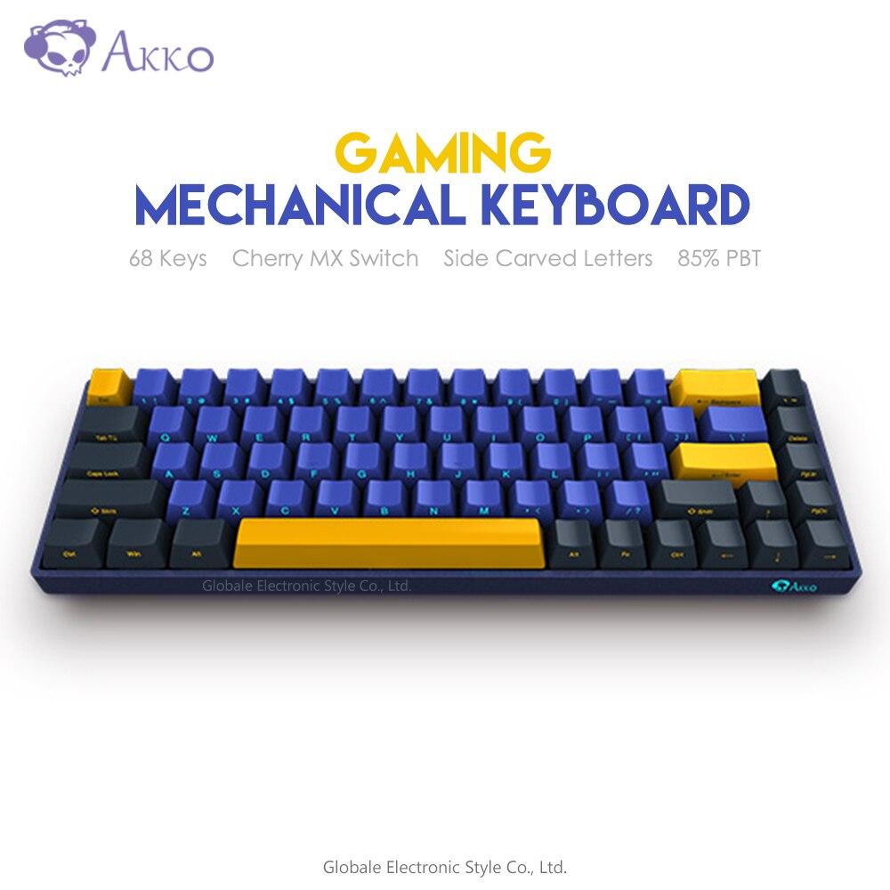 Original Akko 3068 SP Horizon Skyline Mechanical Gaming Keyboard Cherry Switch 85% PBT 68 Keys TYPE-C USB Wired Programmable