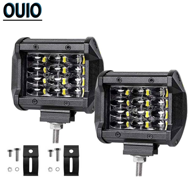 1pc/4pcs Offroad LED Light Bar 4-rows 36W 4 Work 4x4 ATV SUV Car Bus Truck Boat Driving Lamp Vehicle Auto 12V 24V