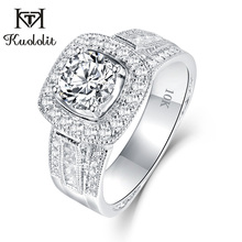 Kuololit 10K White Gold Moissanite Rings for Women D color VVS1 Lab growth Diamond Wedding Romantic Ring Fashion Fine Jewelry