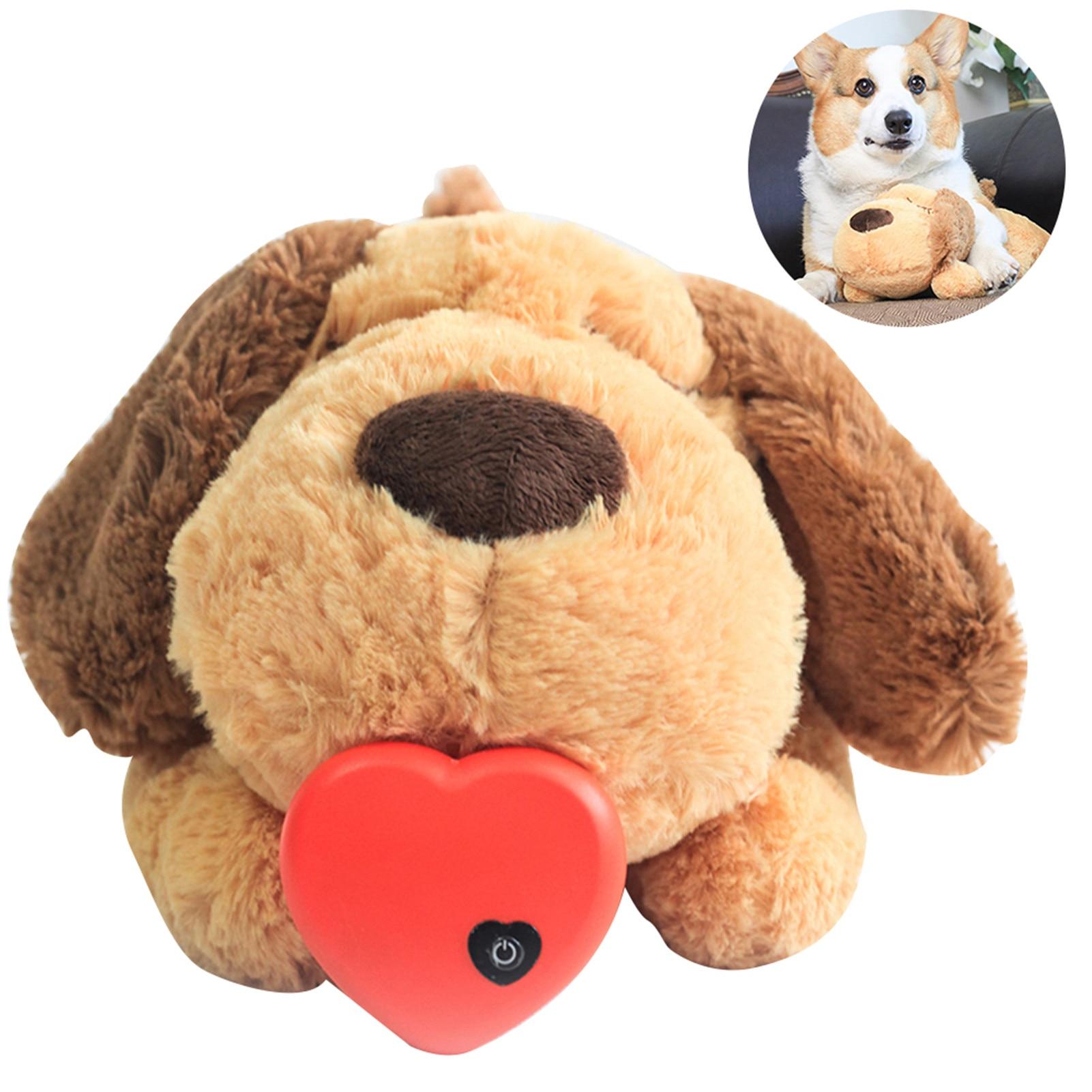 Плюшевая игрушка для тренировки сердцебиения, щенок, поведенческая тренировочная плюшевая игрушка для домашнего питомца, устранение беспо...