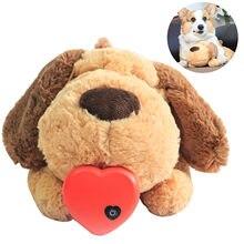 Brinquedo de treinamento comportamental de pelúcia do filhote de cachorro do coração do brinquedo de pelúcia aconchegar ansiedade alívio sono boneca durável cão mastigar brinquedos para chewers