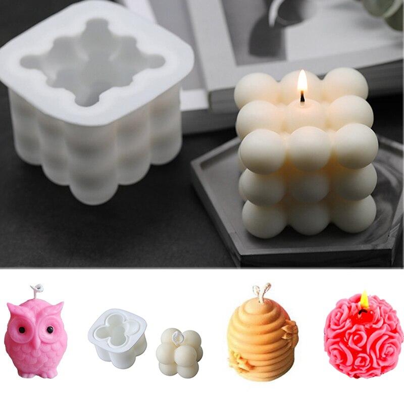 Силиконовые формы для поделок 3D Свеча «цветок розы» пресс-формы