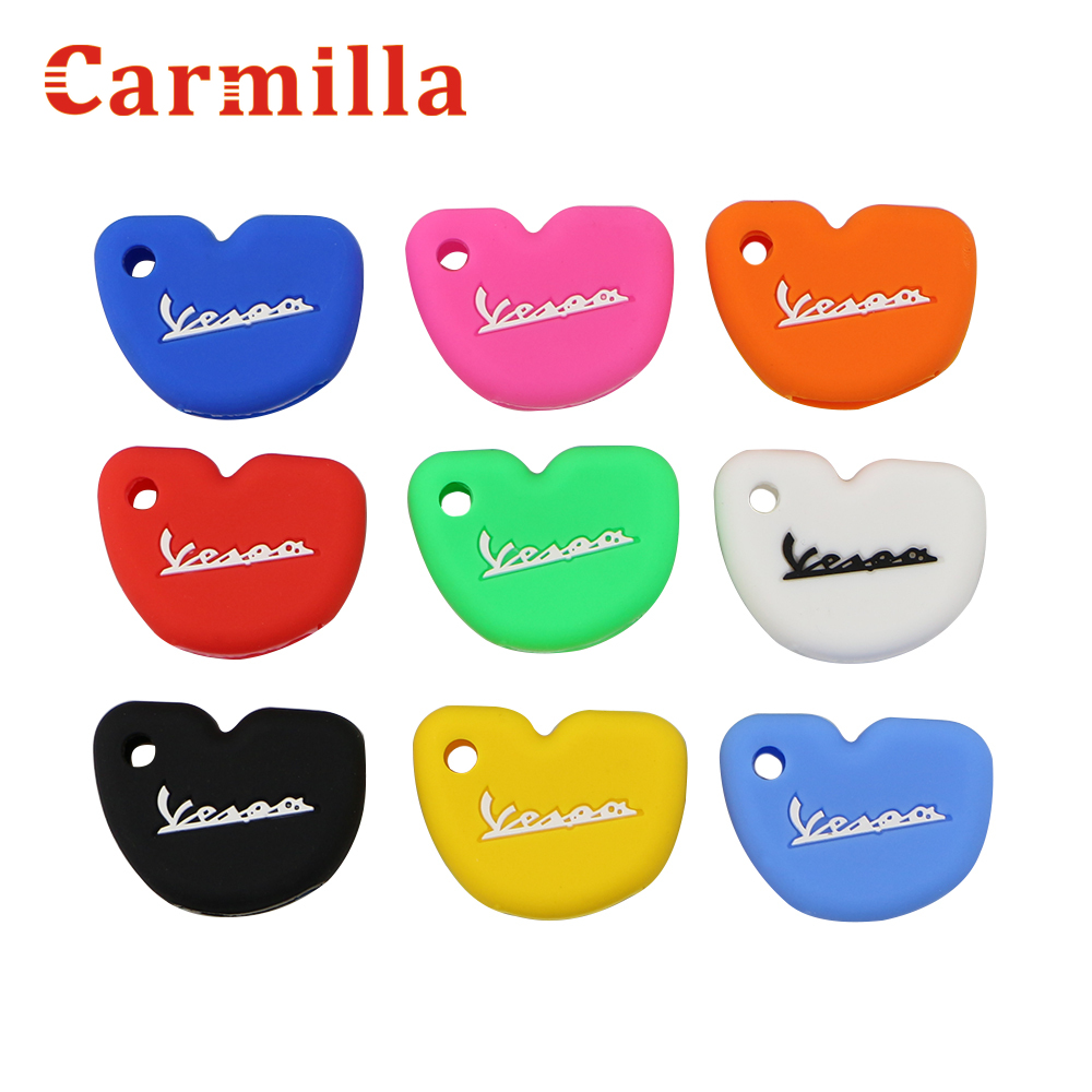 Carmilla Silicone Key Case Protector Cover Fit For Vespa Enrico Piaggio GTS300 LX150 Fly 125 3vte Gts 200 Motorcycle Key