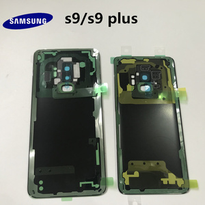 Image 5 - 100% Original SAMSUNG Galaxy S9 G960 S9+plus G965 Back Glass Battery Cover Rear Door Housing Case Back Glass Cover Parts