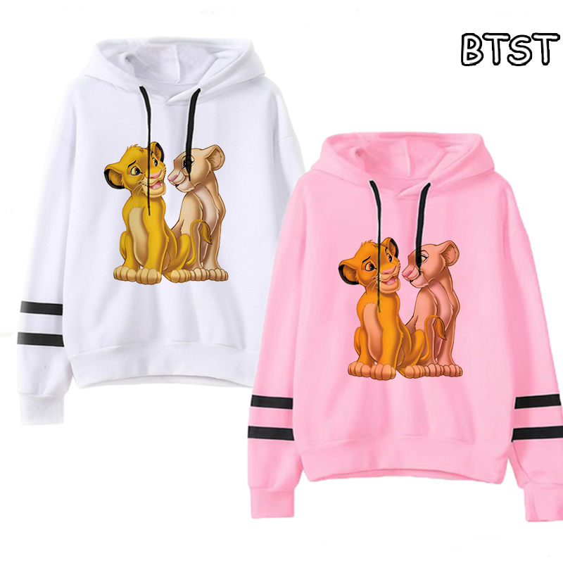 New Kawaii Lion King Cartoon Printed Hoodies Women Casual  Harajuku Sweatshirt Fashion Casual Winter Coat Women Punk 90s Clothes