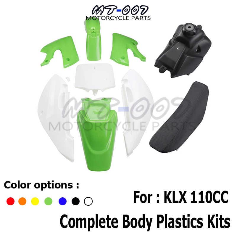 Camisin Motorcycle Plastic Gas Petrol Fuel-Gasoline Tank for KLX110 KLX 110 KX65 RM65 KX RM 65 DRZ110 DRZ110 02 03 04 05 06 07