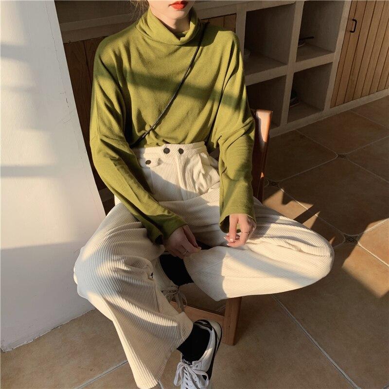 Hf96b94d3b5174ec1bbb18c56ad740584k - Autumn / Winter Korean Corduroy Loose Solid Pants