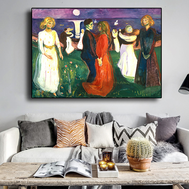 Dance of Life Edvard Munch Abstract Oil Painting on Canvas 4
