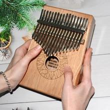 Kalimba – Piano à pouce 17 touches en bois de haute qualité, corps d'instruments musicaux, boîte à musique créative, cadeau de noël