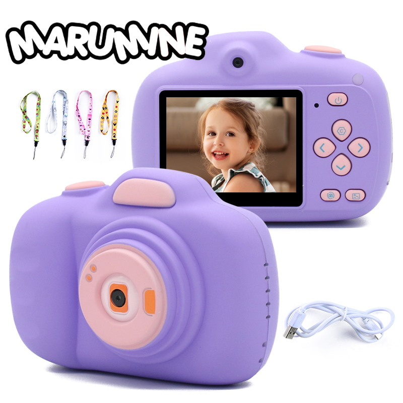 Marumine Kids Digital Camera 12.0MP HD 1080P Video 2.3 Inch Display With Dual Lens Electronic Selfie Timed Shooting Photography