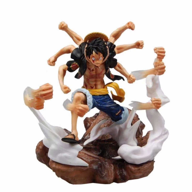31CM Anime One Piece Figure Luffy Gomu Gomu No Gatling GK Laser Gun Monkey D Luffy Action Figure Phantom Luffy PVC Figure Toys