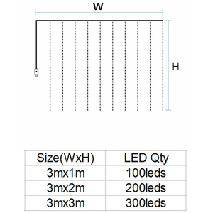 Image 5 - LED garland curtain string lights Remote Control fairy light Home decoration on the window Wedding party light string led decor