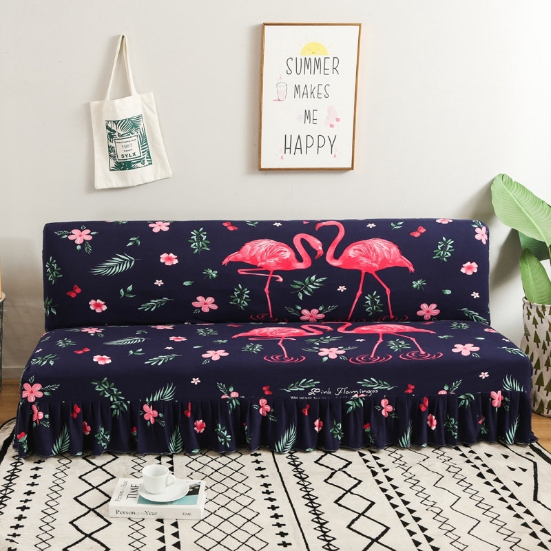 Yaapeet Stretch Sofa Cover Without Armrest Folding Sofa Bed Cover Couch Cover Big Elastic Slipcover Sofa